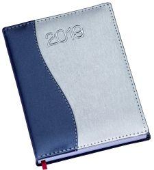 LG150 Agenda Diária capa de couro sintético detalhe ''S'' em azul royal