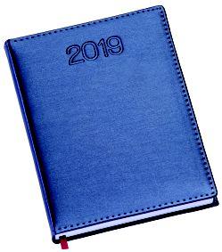 LG180 Agenda Diária capa em couro sintético azul royal