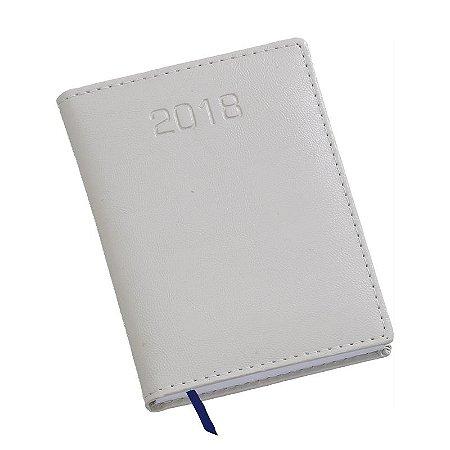 LG219 Agenda Compacta capa em couro sintético cinza