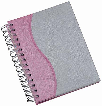 """LGS282 Agenda Wire-O Percalux """"S"""" em rosa"""