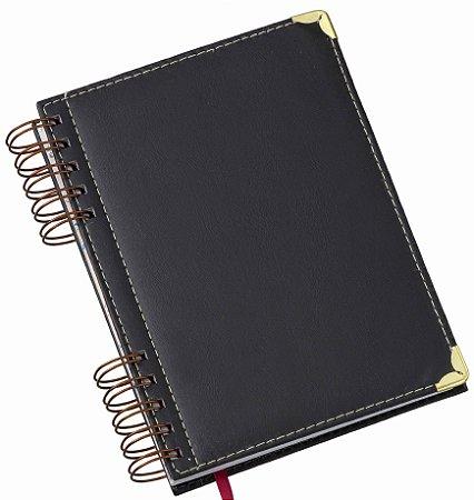 LG283 Agenda Wire-O Luxo Preta