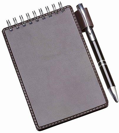 LG235 Caderneta de Anotações Marrom