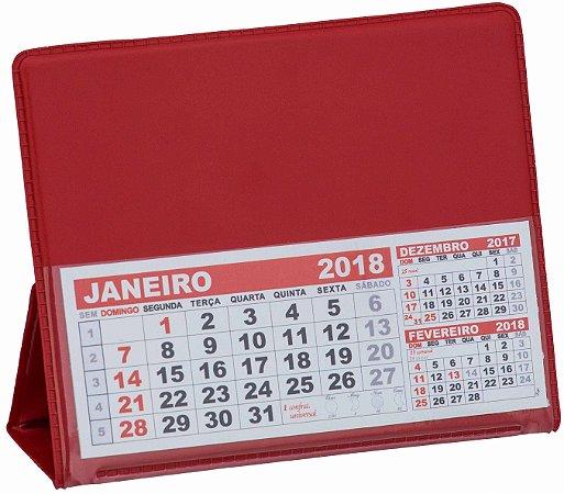LG40 Calendário de Mesa 117x165mm Vermelho