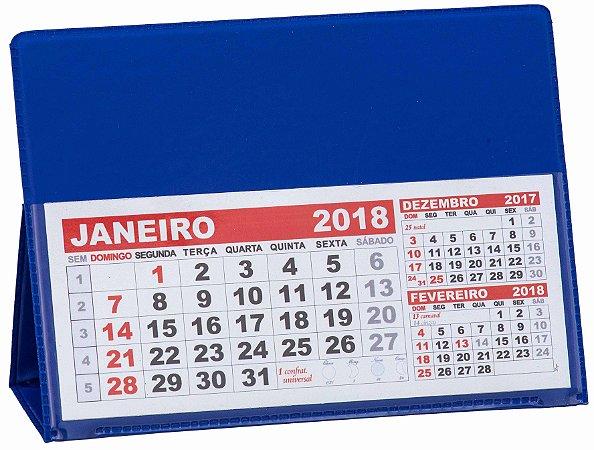 LG40 Calendário de Mesa 117x165mm Azul Royal