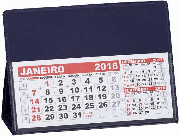 LG42 Calendário de Mesa 103x120mm Azul Marinho