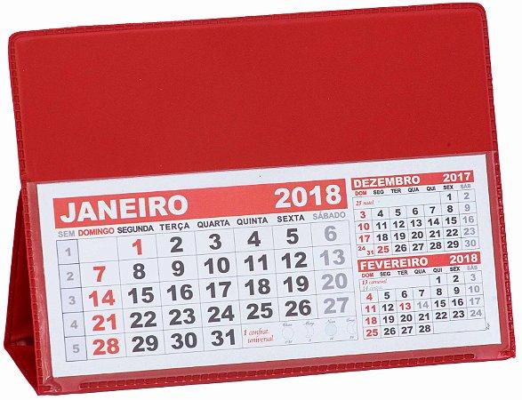LG42 Calendário de Mesa 103x120mm Vermelho