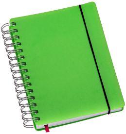 LG426 Agenda Compacta Wire-O Capa Plástica Verde