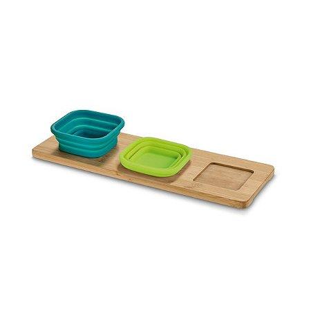 Base de mesa com 3 potes
