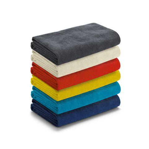 Toalha de praia em microfibra na sacola de  non-woven personalizado