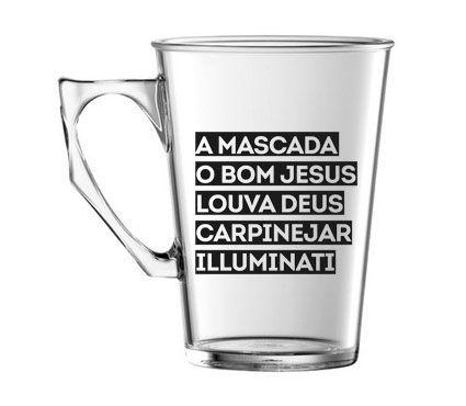 Caneca Pretinho Básico 290ml - Mascada Illuminati - Kaballa