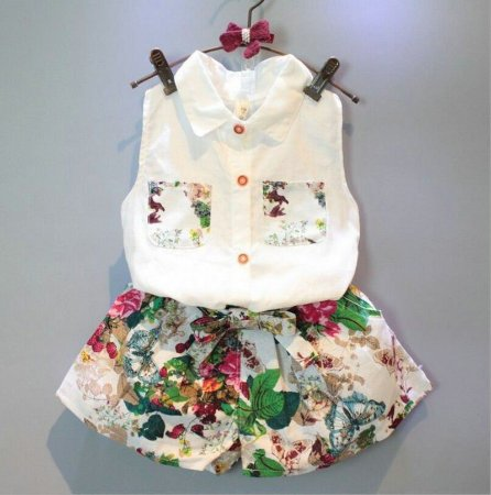 Conjunto Verão Infantil Menina 2 Pçs Shorts blusa - SGKids Moda Infantil 6e05640f60f85