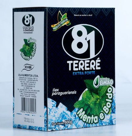 Tereré 81 Premium Extra Forte Menta, Boldo e Limão 500g
