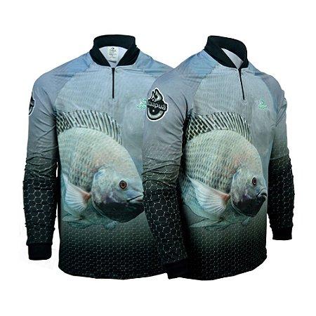 Camisa De Pesca Tilápia Proteção Uv 50+ Kaa14 - A Kaapuã