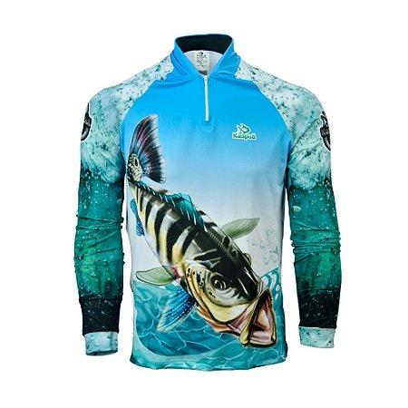 Camisa De Pesca  Infantil Tucunaré Proteção Uv 50+ Kaa10 Kaapuã