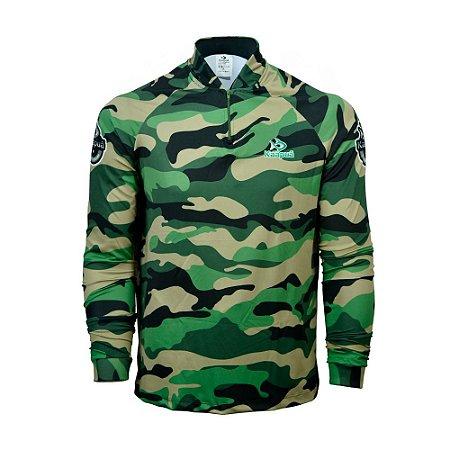 Camisa De Pesca  Infantil Camuflada Proteção Uv 50+ Kaa0C Kaapuã