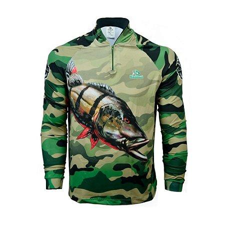Camisa De Pesca  Infantil Tucunaré Açu Proteção Uv 50+ Kaa05 Kaapuã
