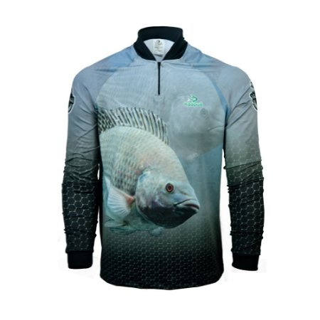 Camisa De Pesca  Infantil Tilápia Proteção Uv 50+ Kaa14 - A Kaapuã