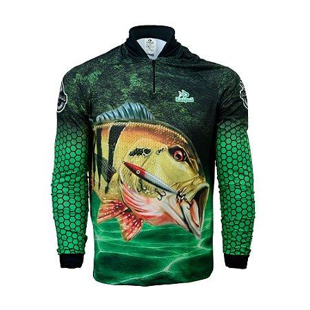 Camisa De Pesca  Infantil Tucunaré Proteção Uv 50+ Kaa23 Kaapuã