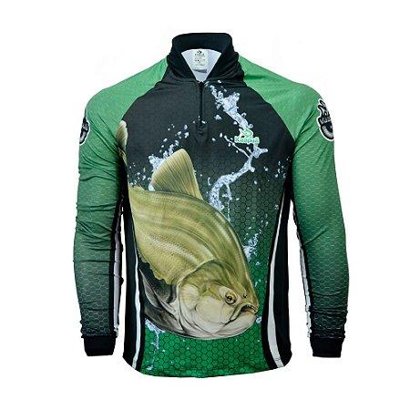 Camisa De Pesca  Infantil Tambaqui Proteção Uv 50+ Kaa41 Kaapuã
