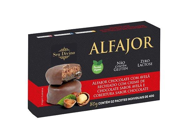 Alfajor Chocolate c avelã recheado com creme de chocolate - DPL 80G