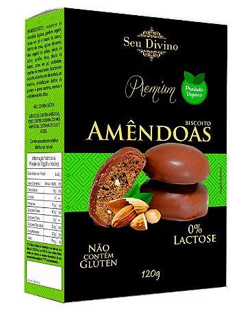 Biscoito de Amêndoas Vegano - Sem Glúten e Sem Leite - 120g