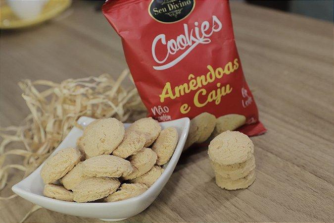 06  Cookies Amêndoas e Caju de 60g - Sem Glúten, Sem Leite e Sem Soja