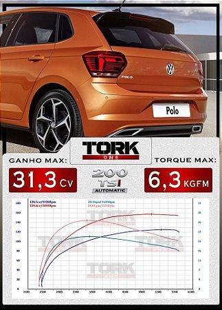 Piggy back Tork One VW Novo Polo  (com controle de tração por Bluetooth)