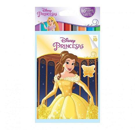Disney Solapa Média Colorir  - PRINCESAS
