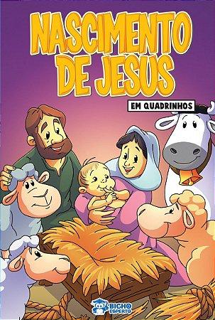 Em quadrinhos Biblia - O NASCIMENTO DE JESUS COM 10 VOLUMES IGUAIS