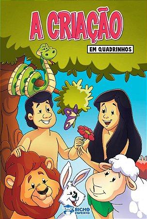 Em quadrinhos Biblia - A CRIACAO - ADAO E EVA COM 10 VOLUMES IGUAIS