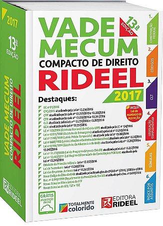 Vade Mecum Compacto de Direito Rideel - 13ª edição - 2017