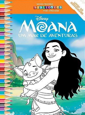 Disney Mini Biblioteca Colorir  - MOANA