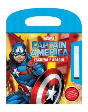 Marvel Escreva e Apague  - CAPITAIN AMERICA