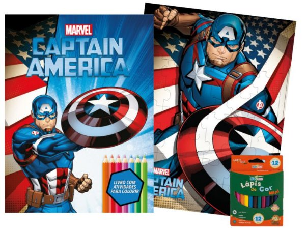 Marvel Kit Diversao - CAPTAIN AMERICA
