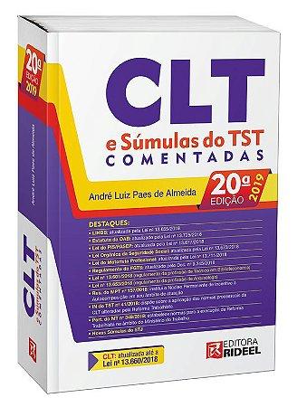CLT e Súmulas do TST Comentadas  - André Paes (atualizado conforme o Edital para exame XXVII)-20ª edição