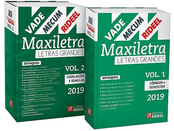 Vade Mecum Maxiletra Rideel - Letras Grandes – 2 volumes
