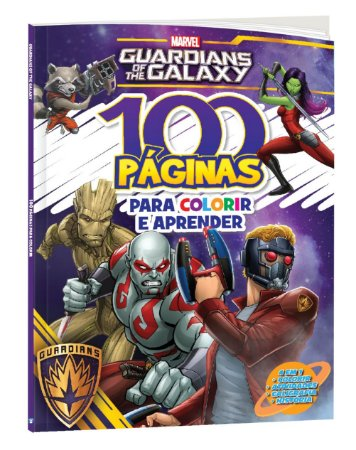 100 Paginas Para Colorir E Aprender Guardioes Da Galaxia Loja