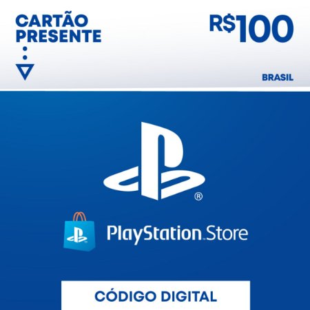 R$100 PlayStation Store - Cartão Presente Digital [Exclusivo Brasil]