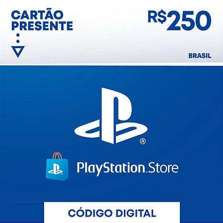 R$250 PlayStation Store - Cartão Presente Digital [Exclusivo Brasil]
