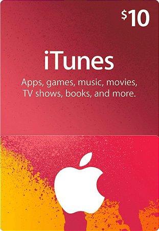 Itunes - Cartão App Store $ 10 Dólares USA