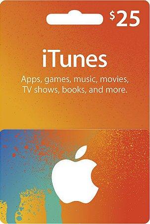Itunes - Cartão App Store $ 25 Dólares USA