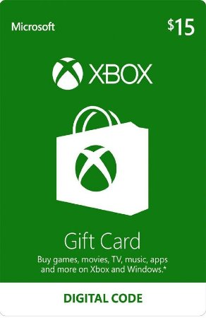 Xbox - Cartão Presente $ 15 Dólares