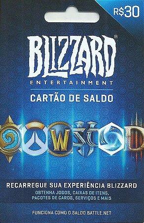 Battle.Net - Cartão Saldo R$ 30 Reais
