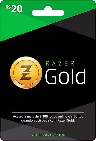 Razer Gold PIN Rixty - Cartão R$ 20