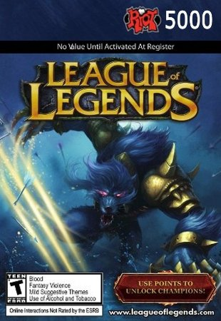 League of Legends - 5000 Riot Points