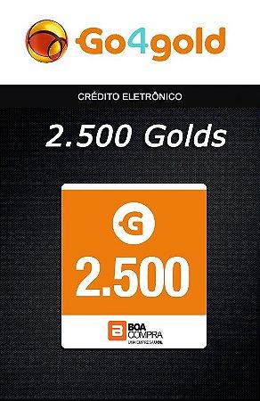 Go4Gold Boa Compra - 2.500 Créditos Gold