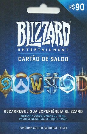 Battle.Net - Cartão Saldo R$ 90 Reais