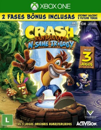 Crash Bandicoot N. Sane Trilogy - Xbox One - Mídia Digital