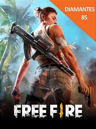 Free Fire 85 diamantes + 9 Bônus - Cartão Pré-Pago
