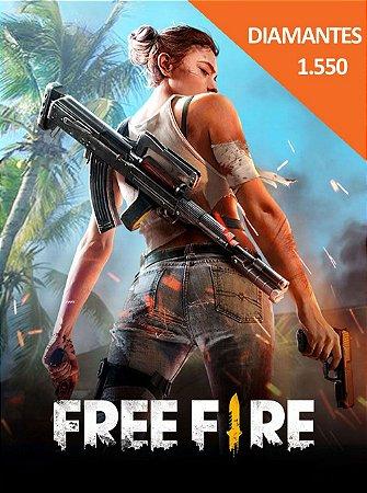 Free Fire - 1.550 Diamantes + 155 Bônus - Cartão Pré-Pago